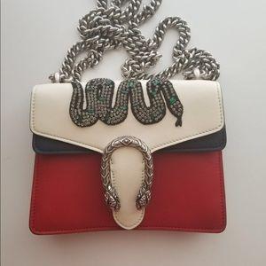 Gucci  Dionysus Leather Mini Bag 100%original